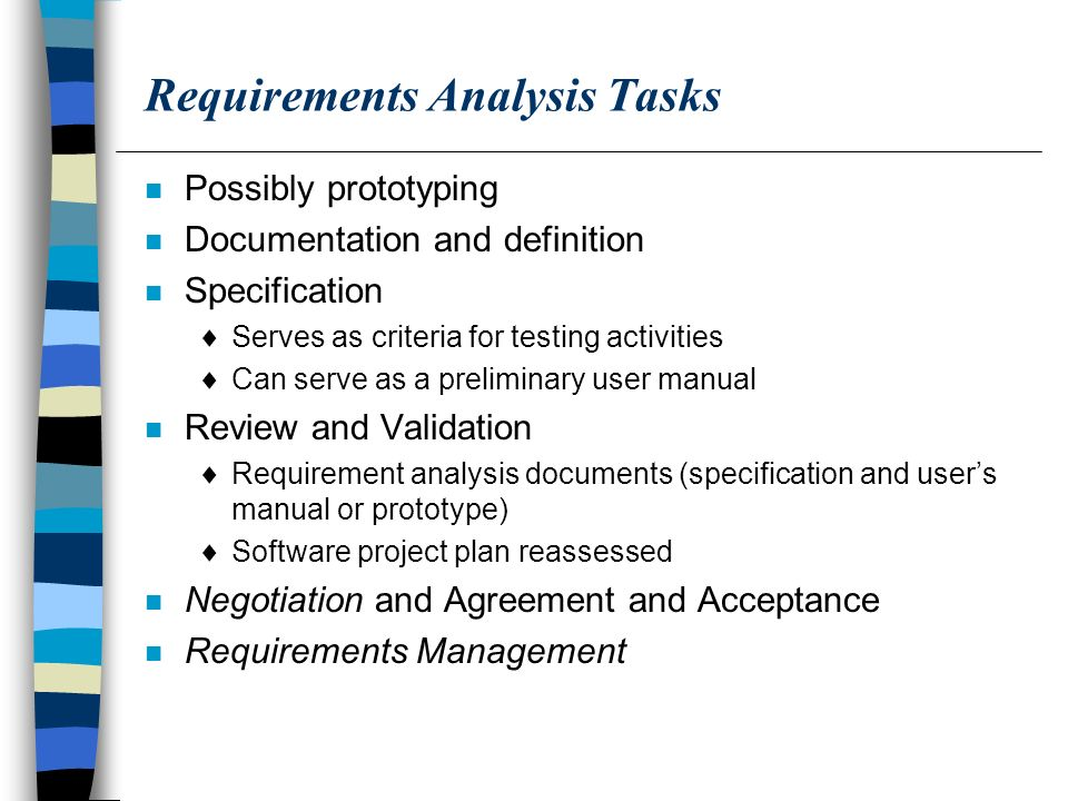 Requirements Analysis  Ppt Download