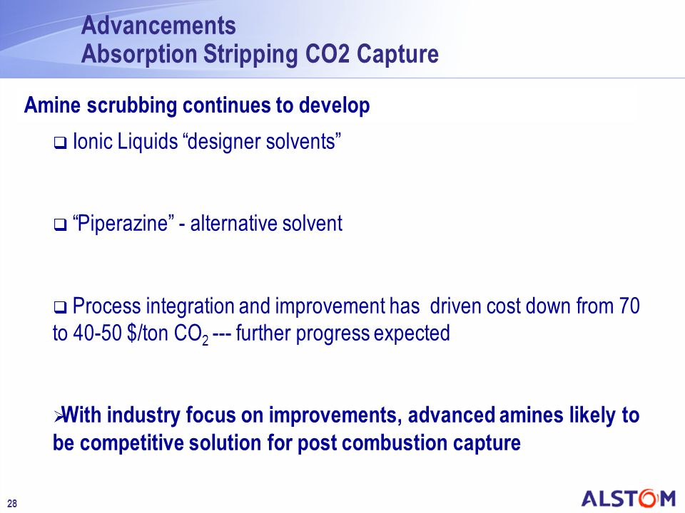Advancements Absorption Stripping CO2 Capture
