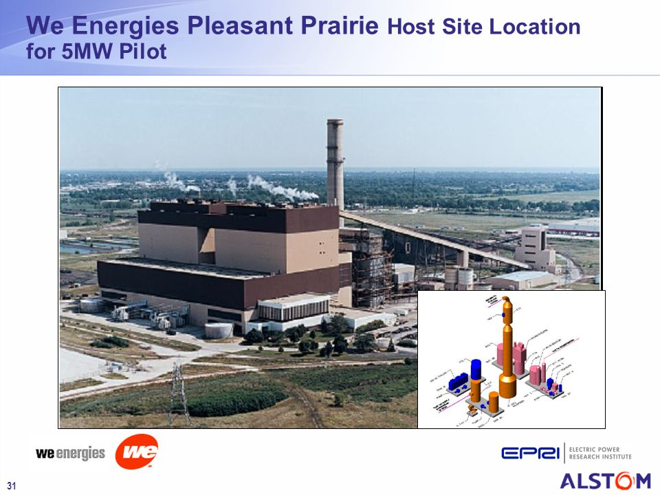 We Energies Pleasant Prairie Host Site Location for 5MW Pilot