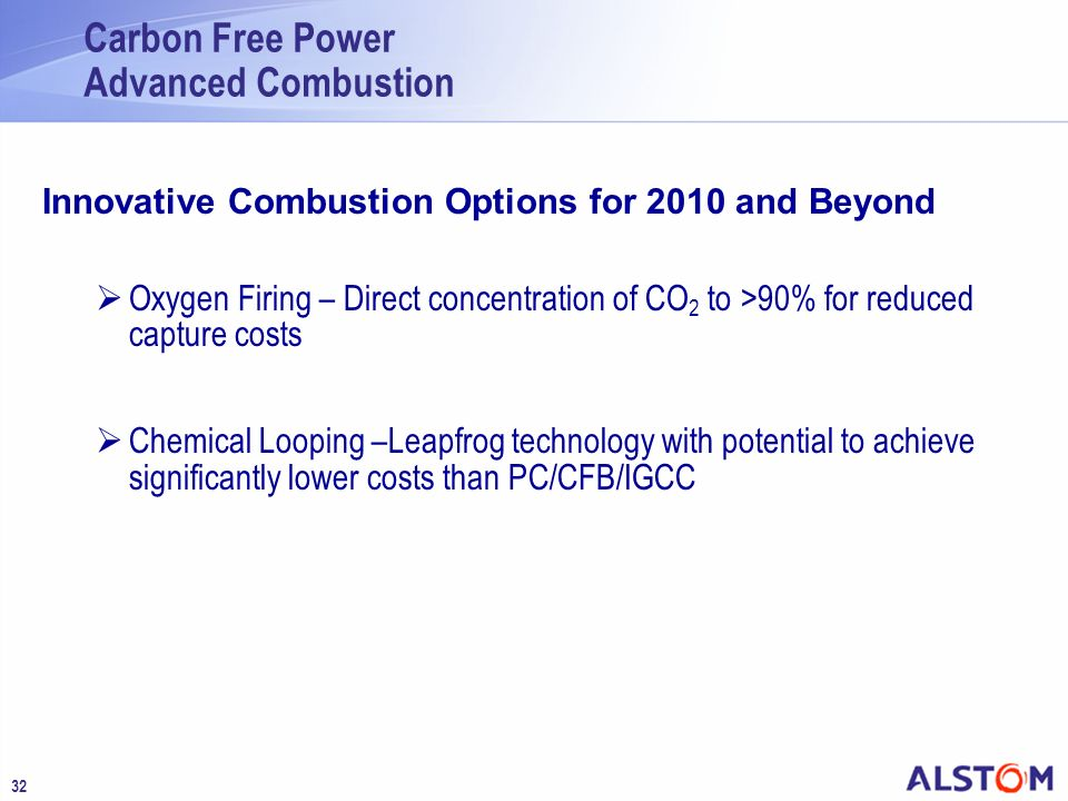 Carbon Free Power Advanced Combustion