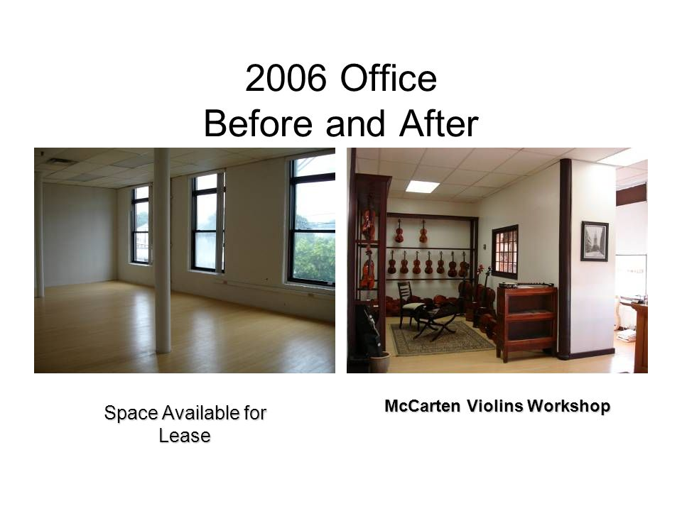 2006 Office Before and After