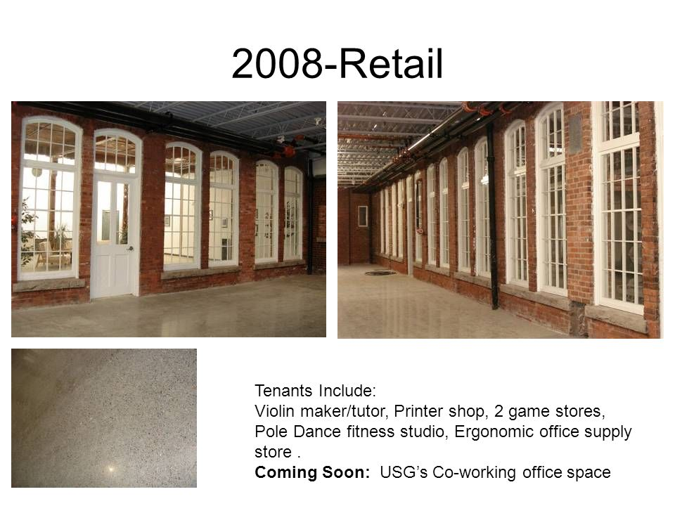 2008-Retail Tenants Include:
