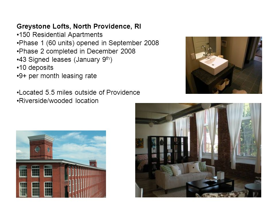 Greystone Lofts, North Providence, RI