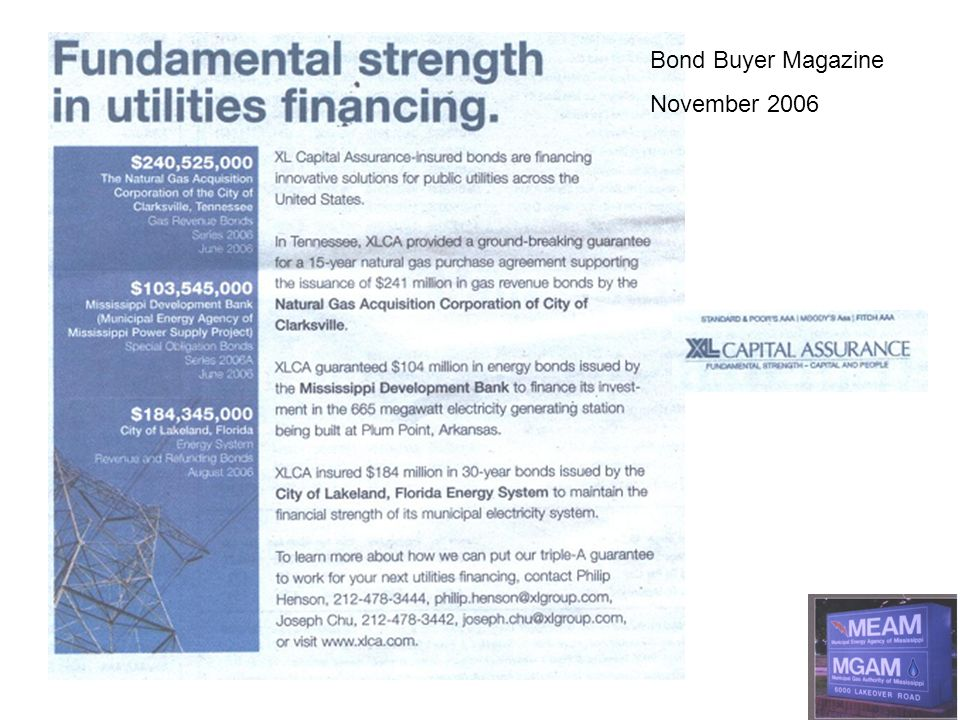 Bond Buyer Magazine November 2006