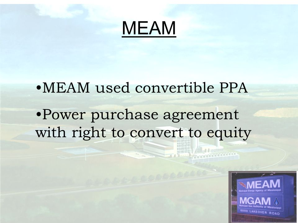MEAM MEAM used convertible PPA