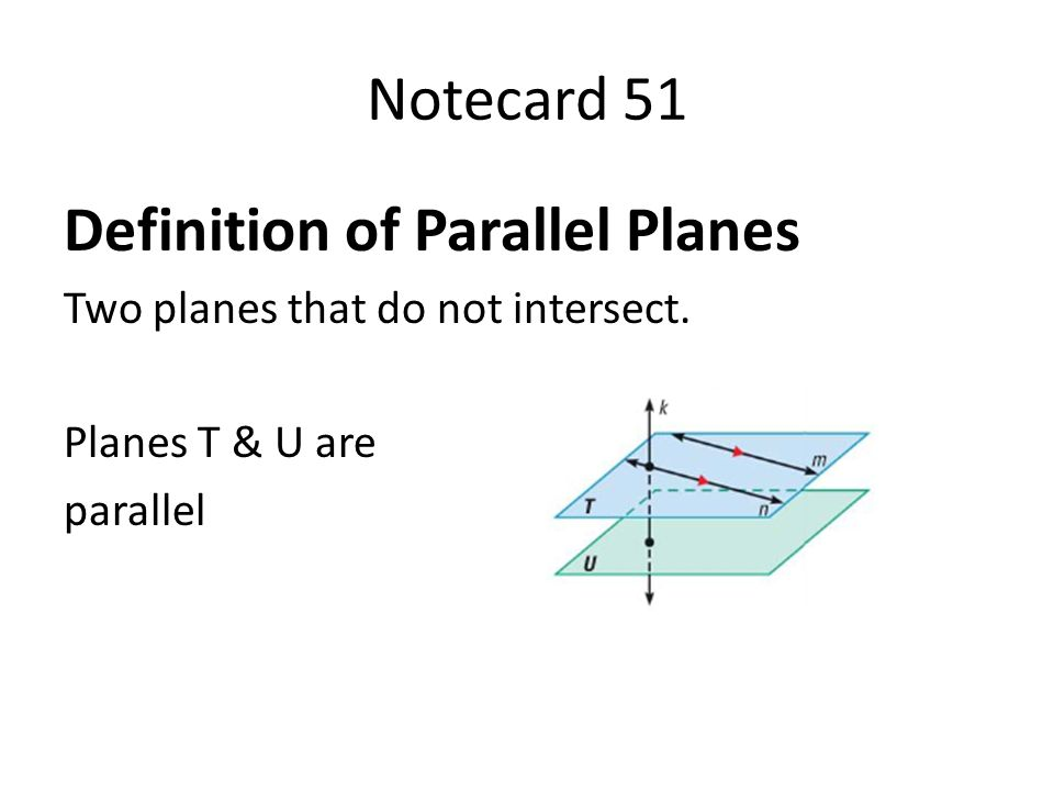 parallel planes definition. definition of parallel planes o