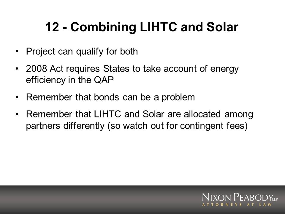 12 - Combining LIHTC and Solar