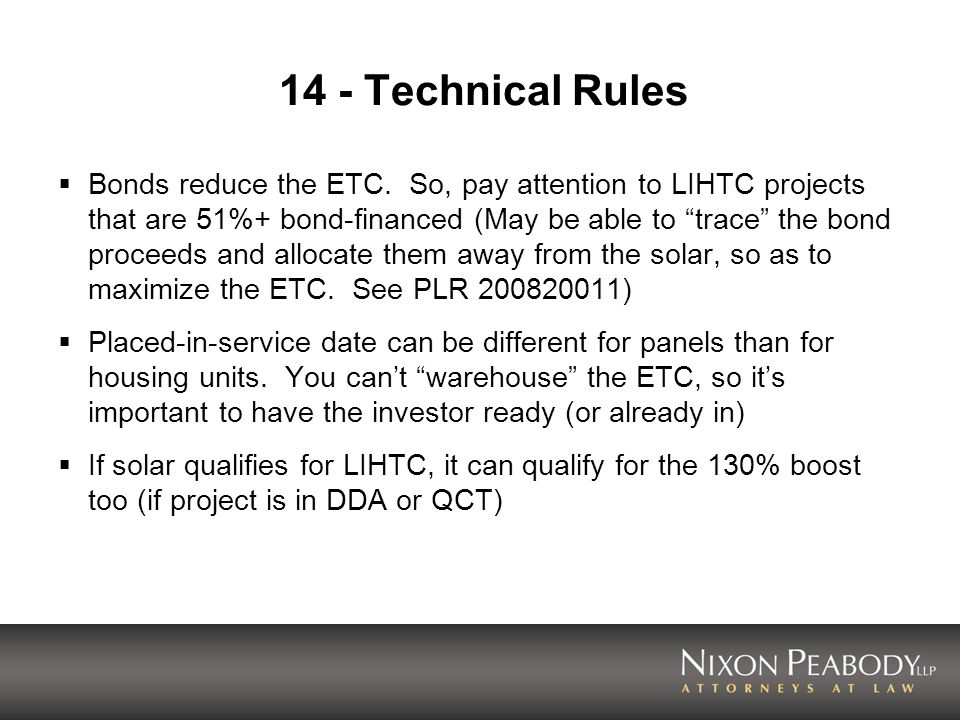 14 - Technical Rules