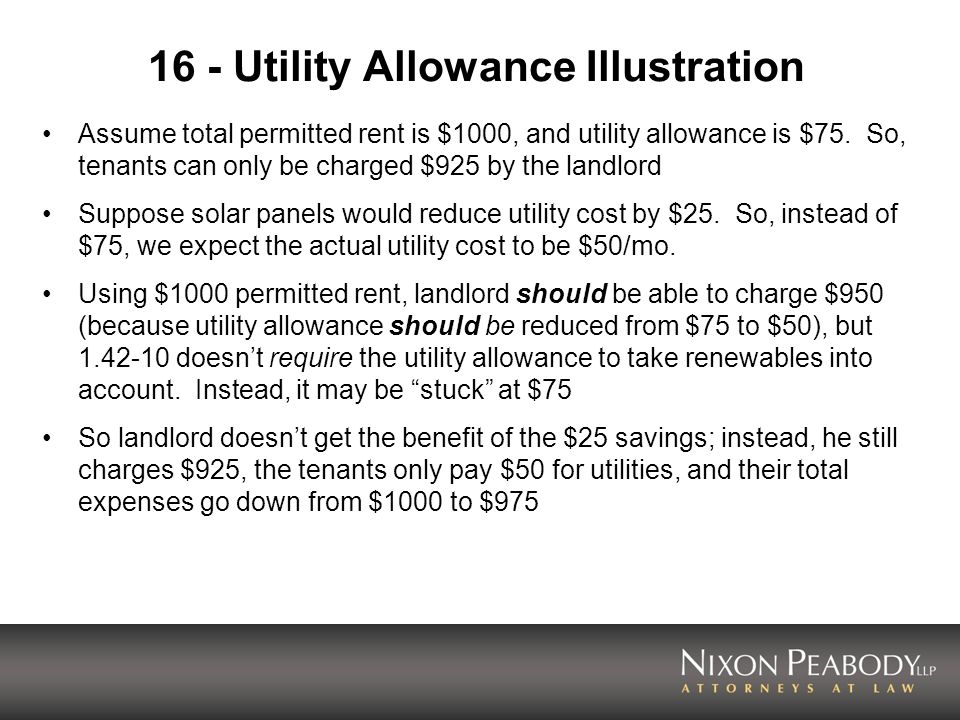 16 - Utility Allowance Illustration