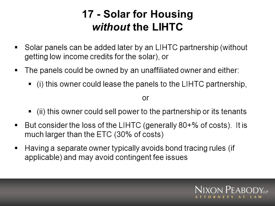 17 - Solar for Housing without the LIHTC