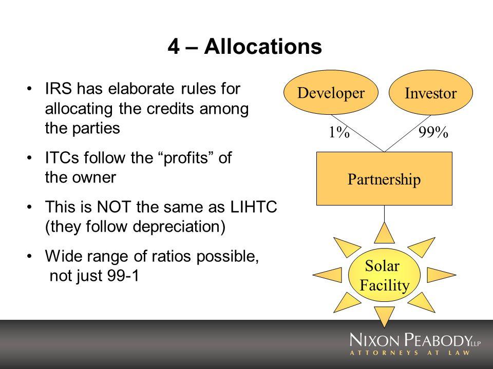 4 – Allocations Developer Investor