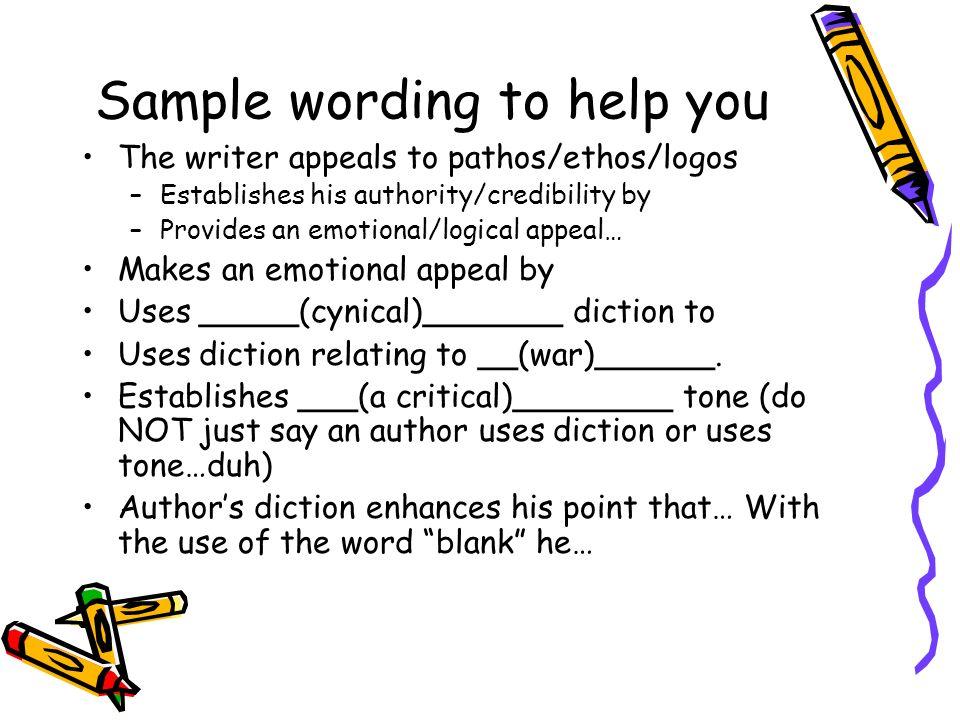 tone diction essay
