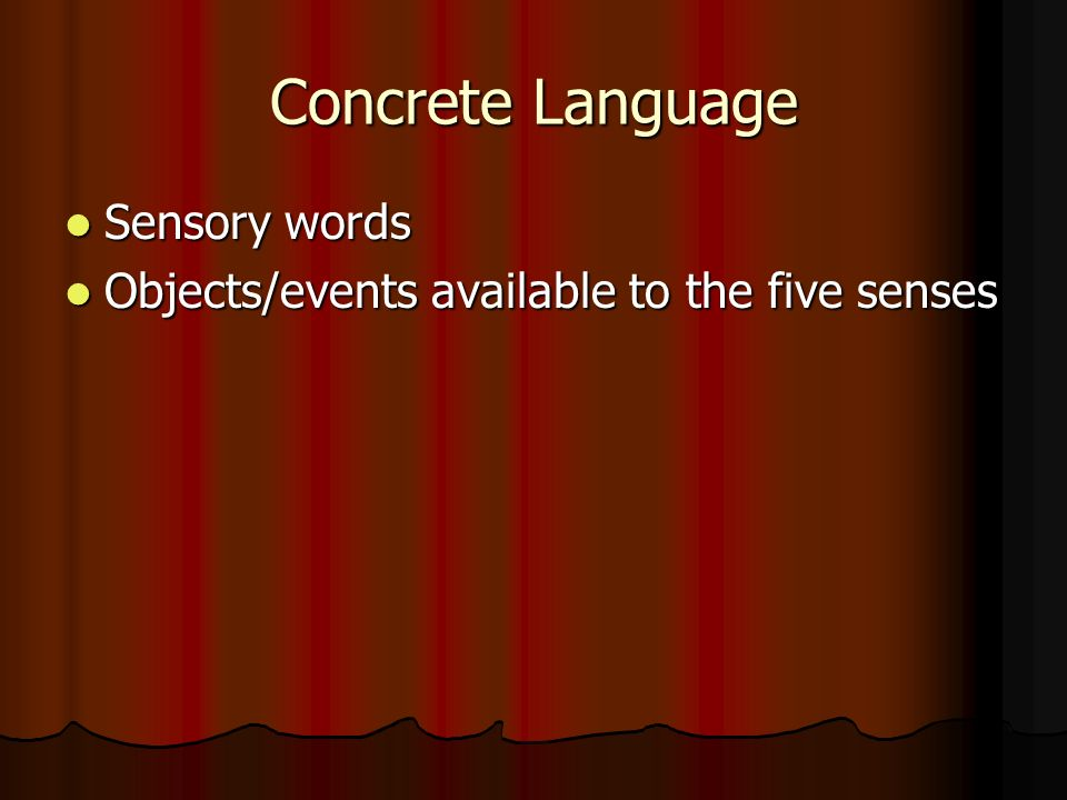 Literary terms ppt video online download for Concrete diction