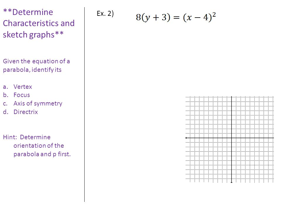 **Determine Characteristics and sketch graphs**