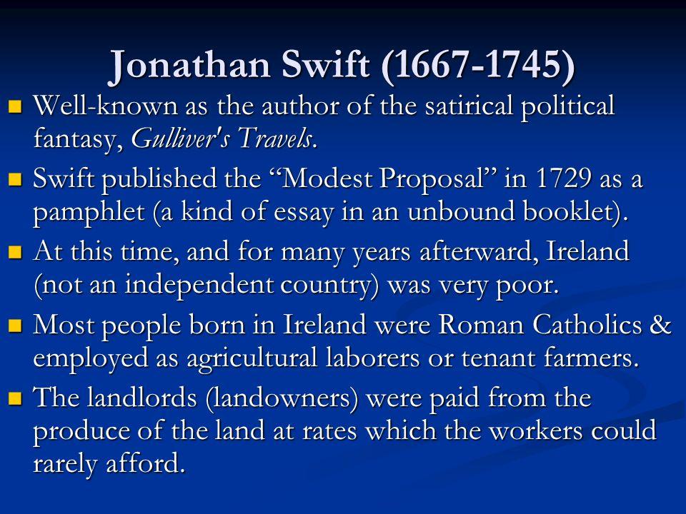 a modest proposal by jonathan swift ppt 8 jonathan