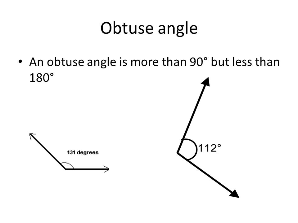 how to get an obtuse angle