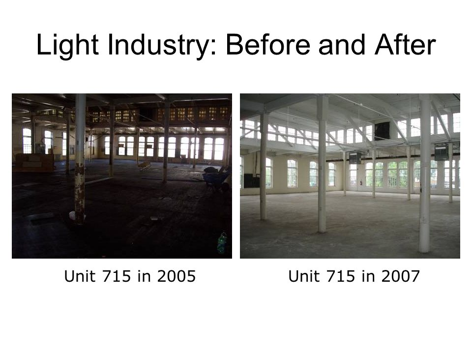 Light Industry: Before and After