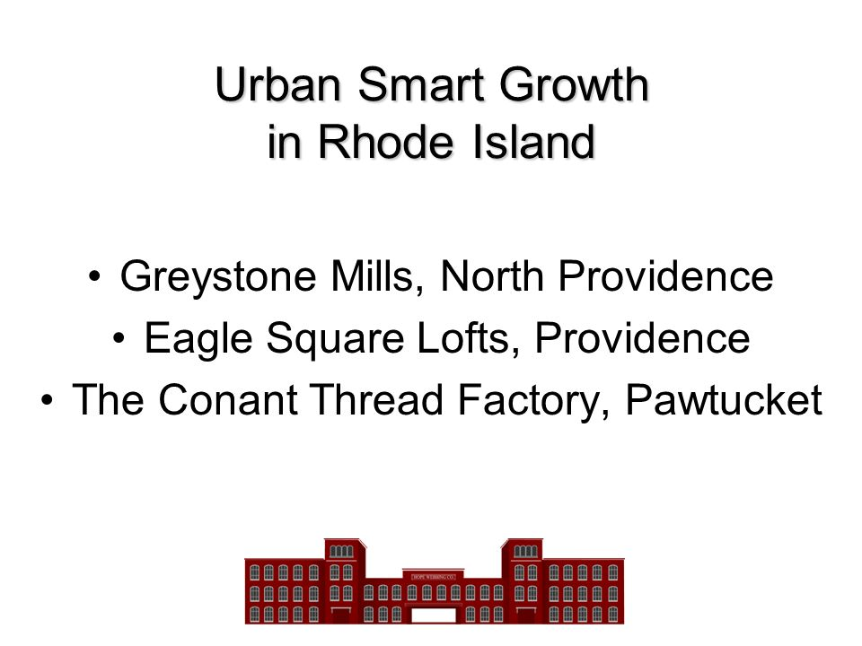 Urban Smart Growth in Rhode Island