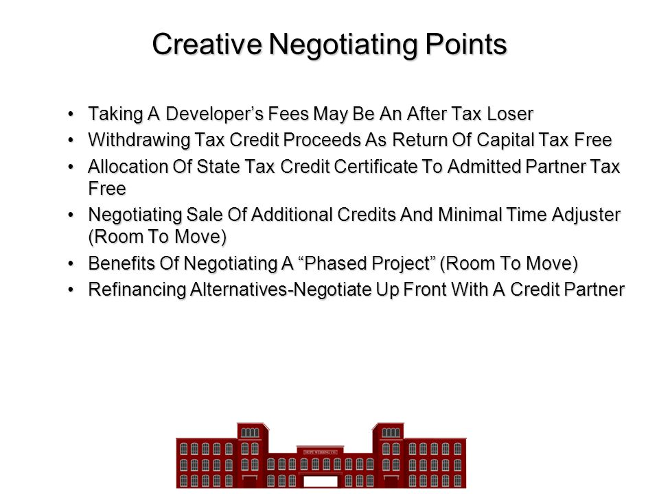 Creative Negotiating Points