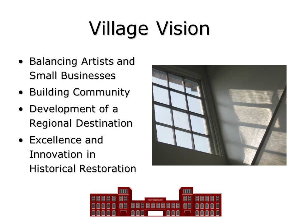 Village Vision Balancing Artists and Small Businesses