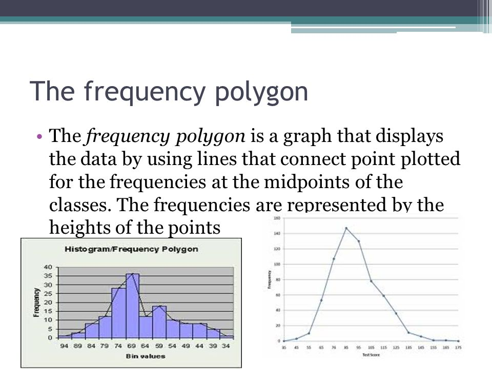 frequency polygons Title: histograms, frequency polygons and ogives 1 histograms, frequency polygons and ogives these are constructions that will allow us.