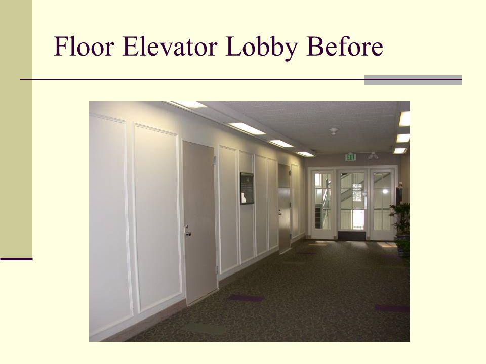 Floor Elevator Lobby Before