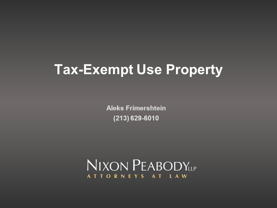 Tax-Exempt Use Property