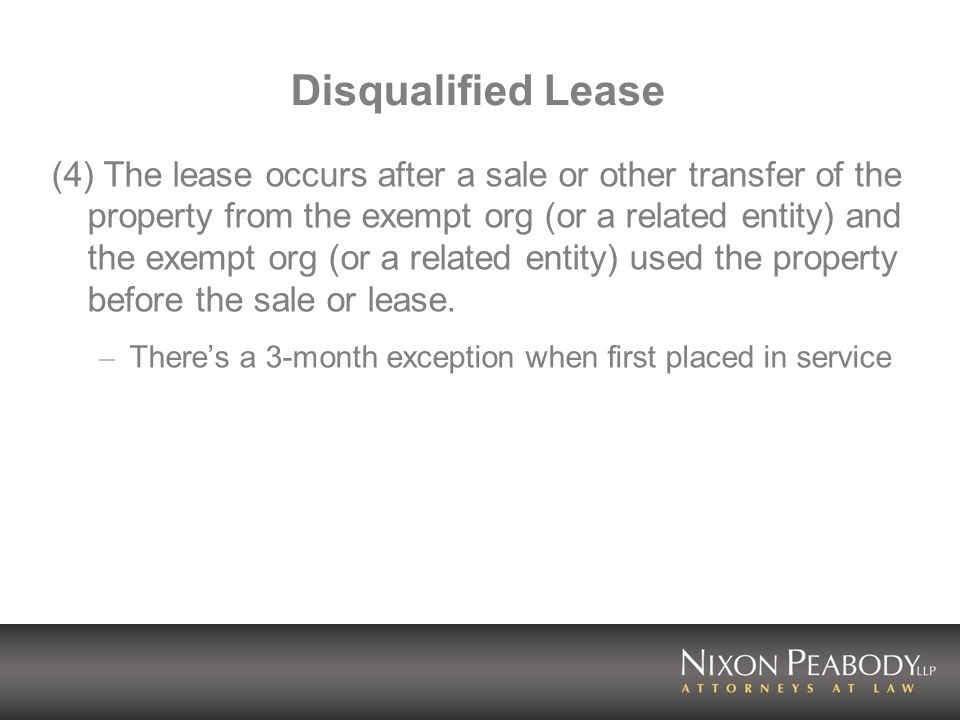 Disqualified Lease