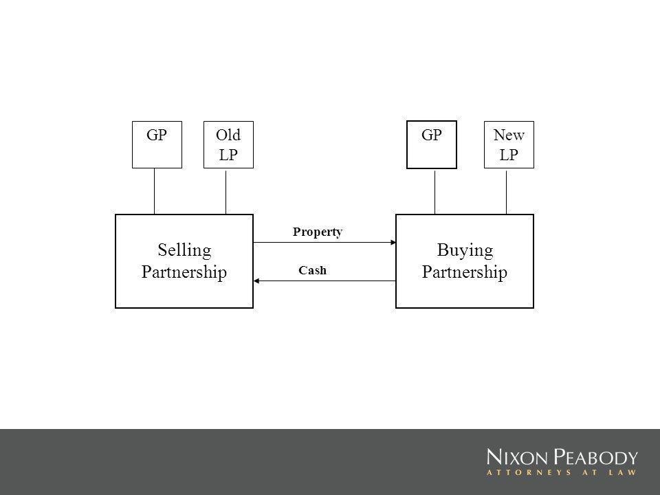 Selling Partnership Buying Partnership GP Old LP GP New LP Property