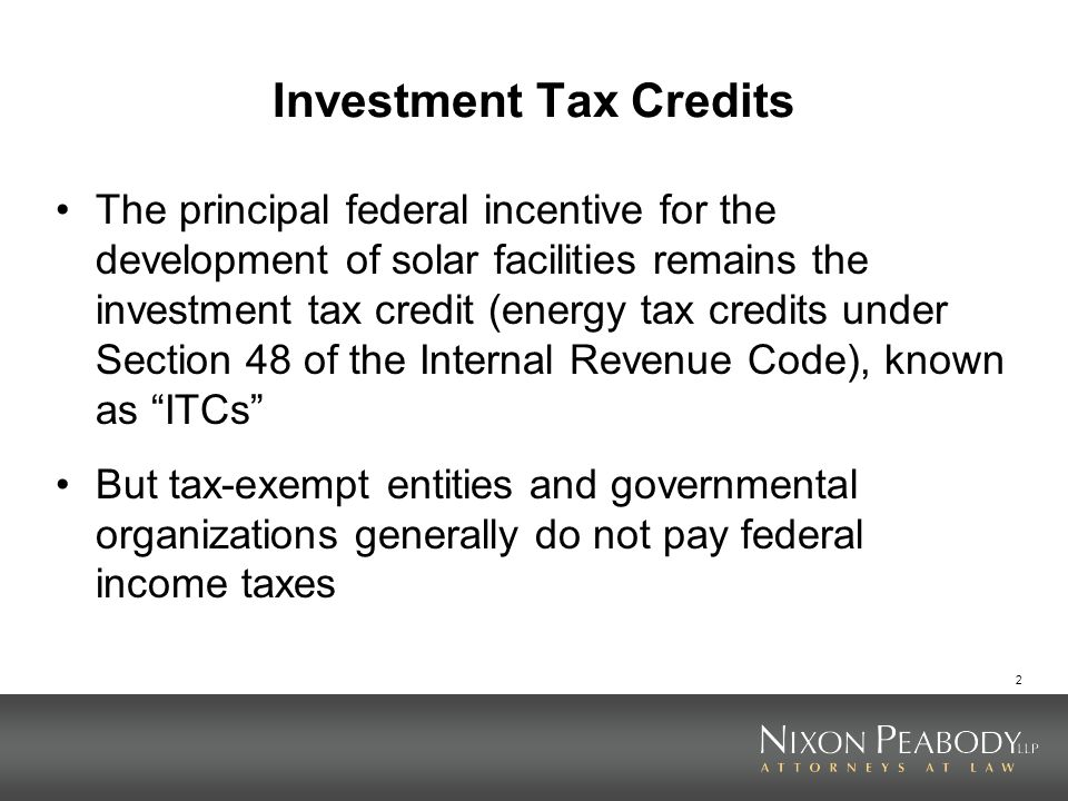 Investment Tax Credits