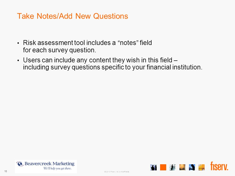 Electronic Banking Risk Assessment Product Training ppt video – Training Survey Template