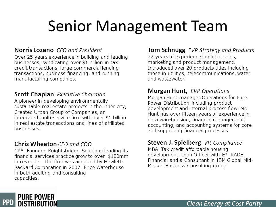 Senior Management Team