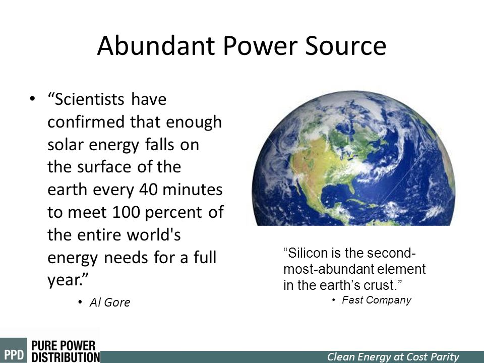Abundant Power Source