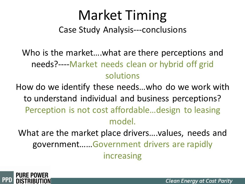 Market Timing Case Study Analysis---conclusions Who is the market…