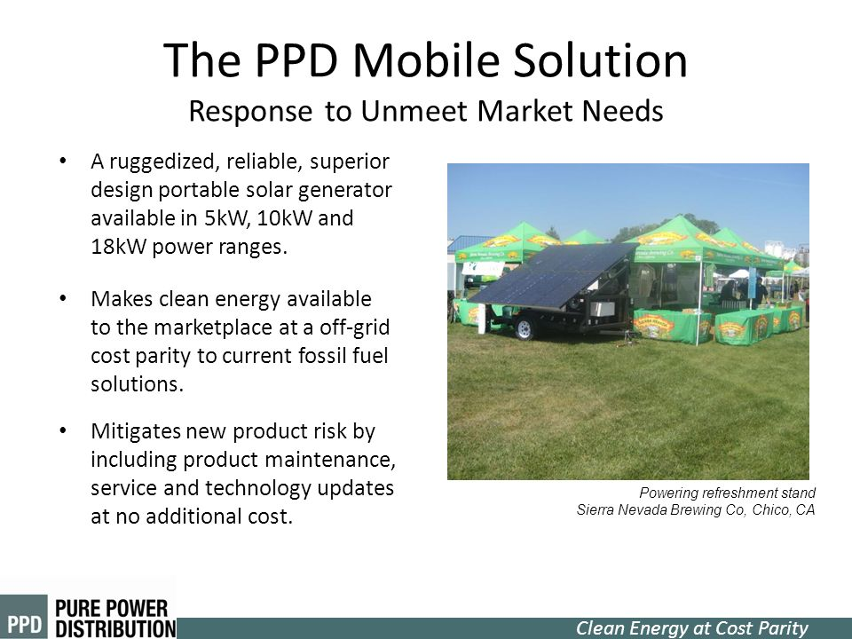 The PPD Mobile Solution Response to Unmeet Market Needs