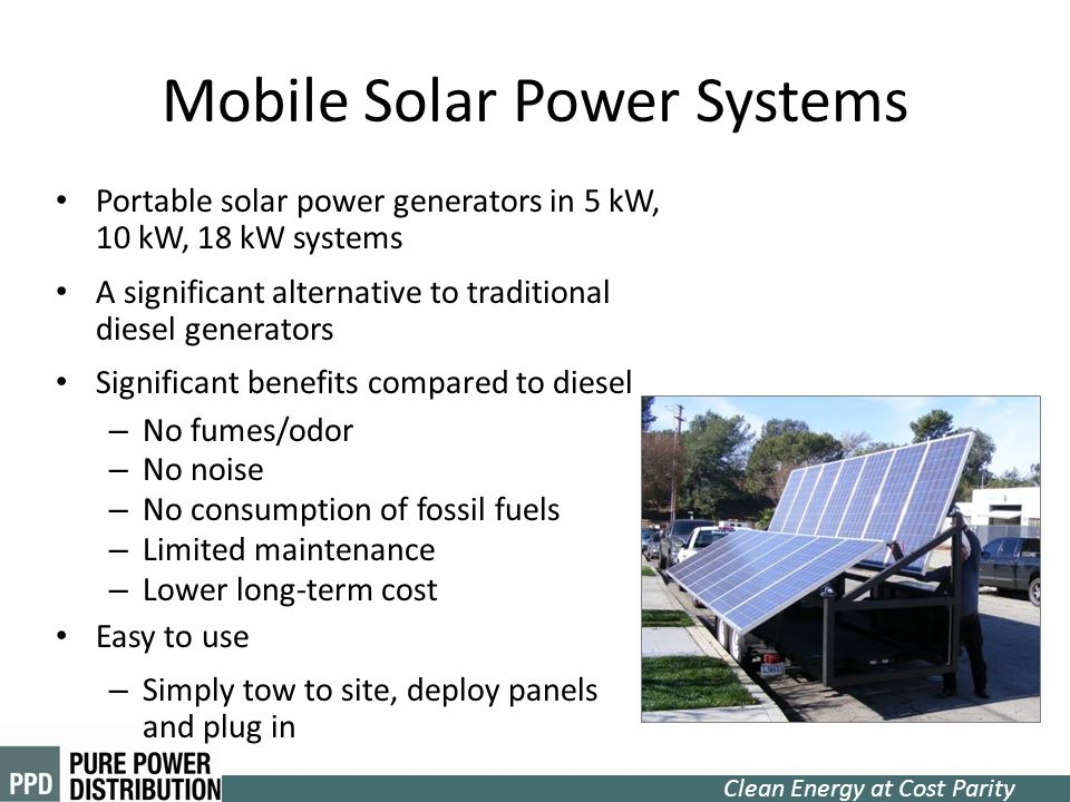 Mobile Solar Power Systems