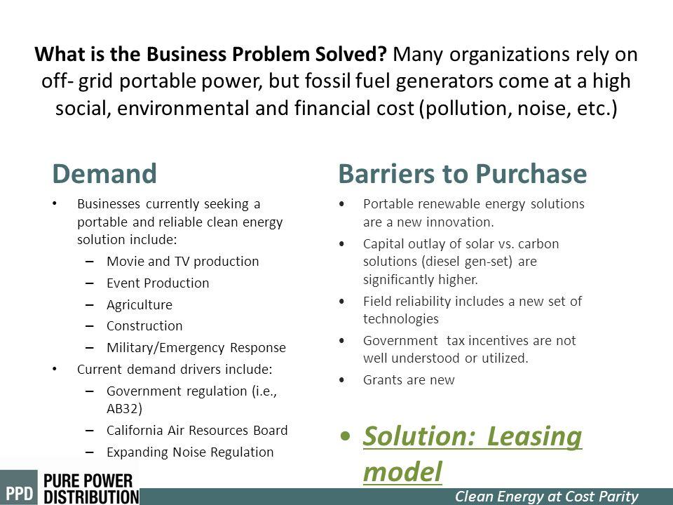 Solution: Leasing model