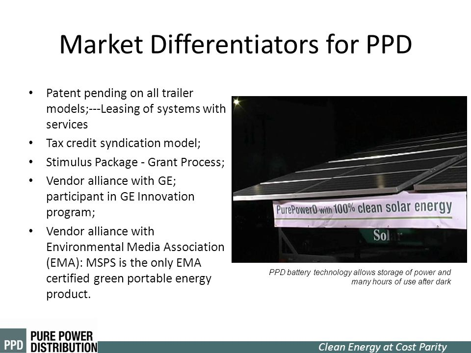 Market Differentiators for PPD
