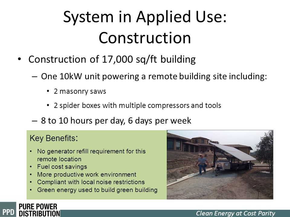 System in Applied Use: Construction