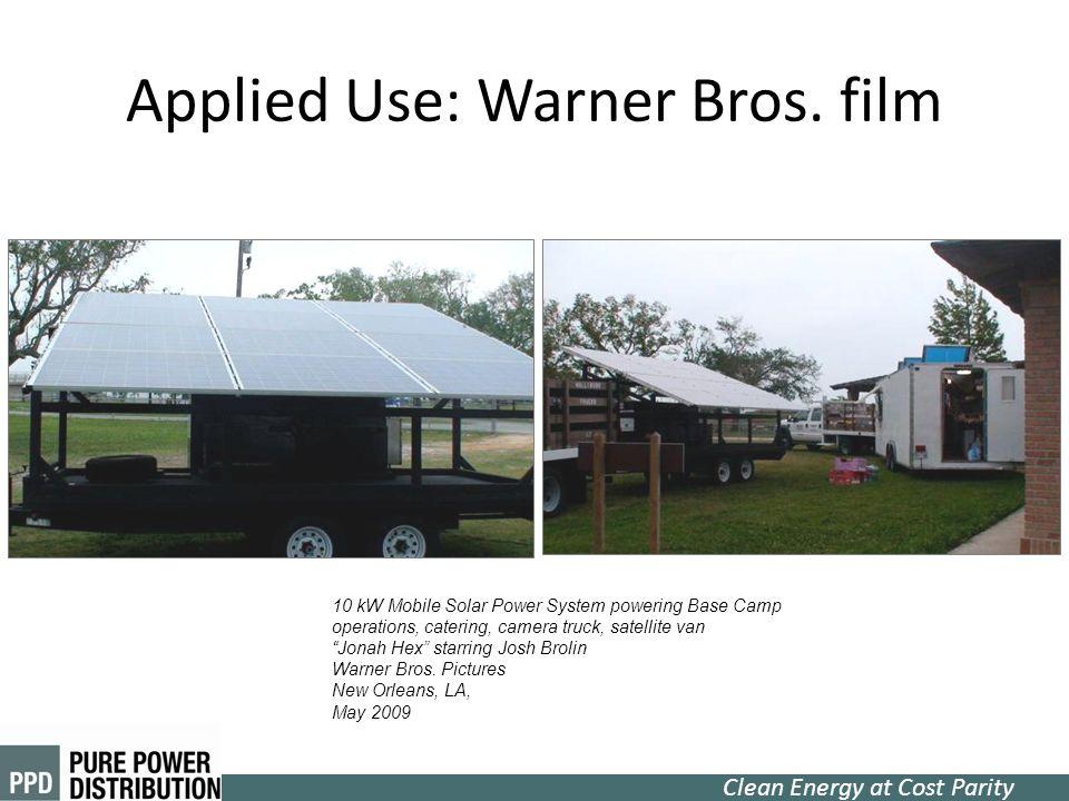 Applied Use: Warner Bros. film