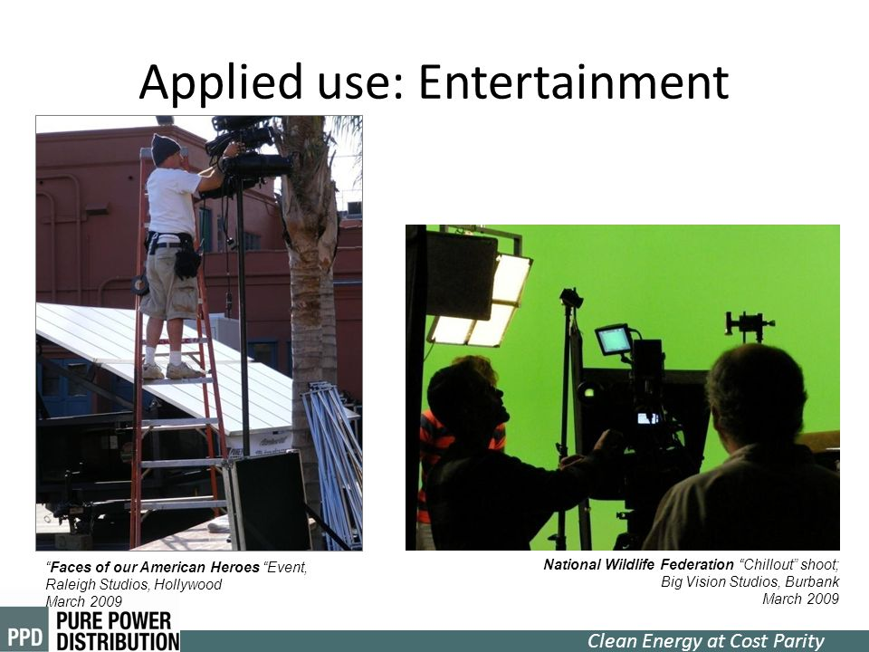 Applied use: Entertainment