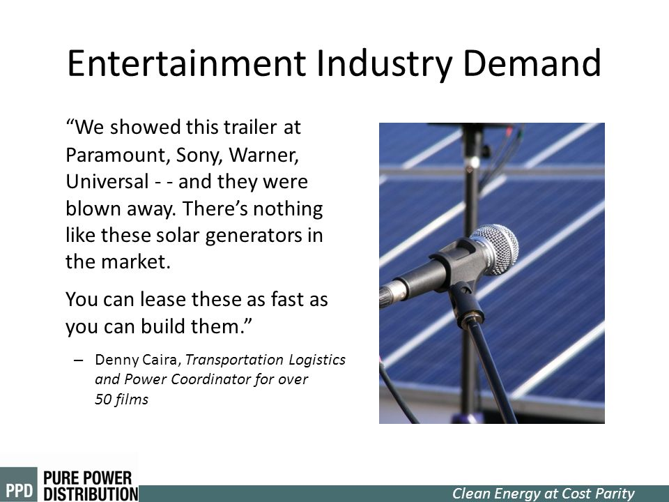 Entertainment Industry Demand