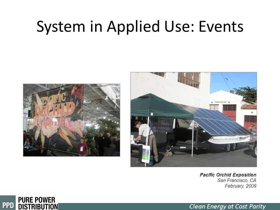 System in Applied Use: Events