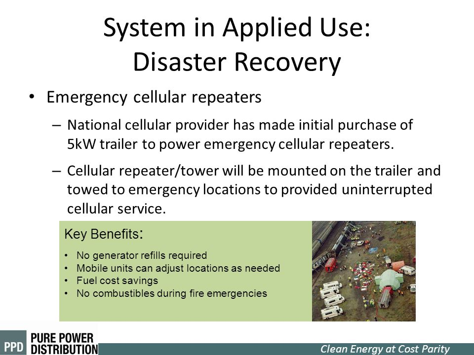 System in Applied Use: Disaster Recovery