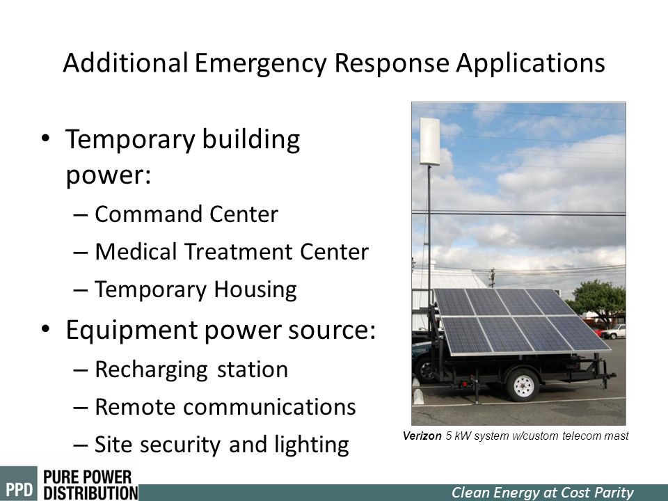 Additional Emergency Response Applications