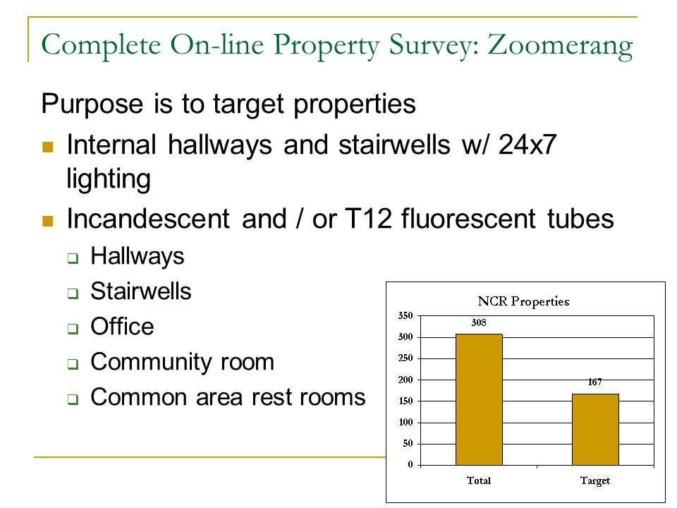 Complete On-line Property Survey: Zoomerang