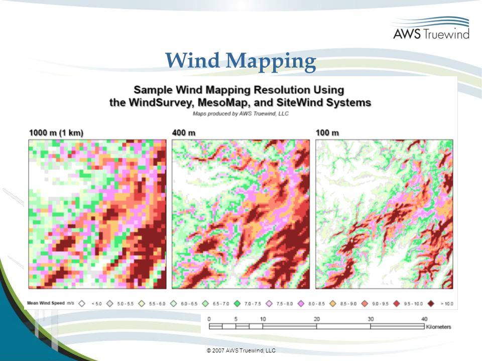Wind Mapping © 2007 AWS Truewind, LLC