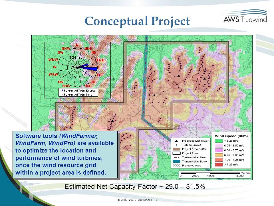 Conceptual Project Estimated Net Capacity Factor ~ 29.0 – 31.5%