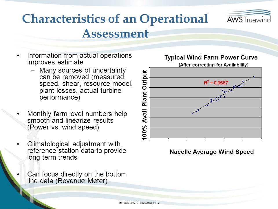 Characteristics of an Operational Assessment