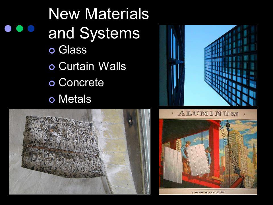 New Materials and Systems